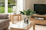 Beech effect living room furniture