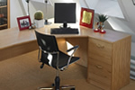 Home office wooden desk