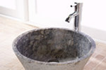 Round stone bathroom basin