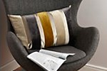Striped lumbar cushion
