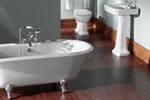Chrome clawfoot bath