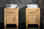 Solid oak bathroom cabinets