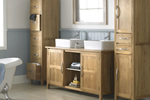 Oak bathroom storage cabinets