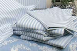 Retro blue stripe bedlinen