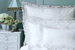 Cutwork bed linen