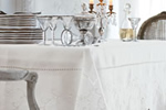 Embroidered pure linen tablecloths