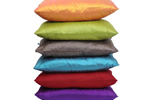 Rectangular silk cushions