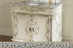 French antique bathroom vanity unit