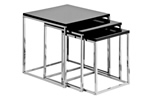 Black hi gloss nested tables