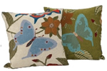 Butterfly cushion and featherpad