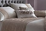 Organza ruched bed linen