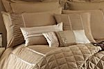 Sheridan damask bed linen range in taupe