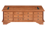 Garrat multi-drawer coffee table