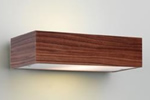 Bathroom wood wall light