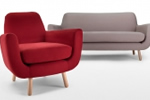 Designer 3 seater sofa and armchair