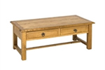 Country style rectangular coffee table