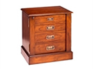 Dark cherry wood 4 drawer chest