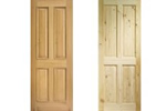 Oak and pine doors