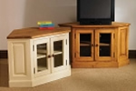 Painted oak TV corner cabinet