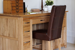 Solid oak office desk