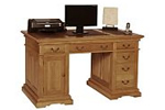 Rustic oak office desk