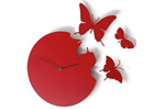 Red butterfly clock