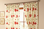 Floral bedroom curtains