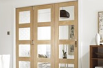 Wooden room divider door