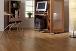 Oak wood effect laminate flooring