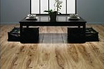 Elm wood effect laminate flooring