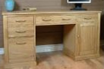 Light oak desk